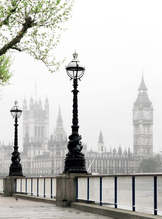 streetlight: Big Ben   Houses of Parliament, idyllic view