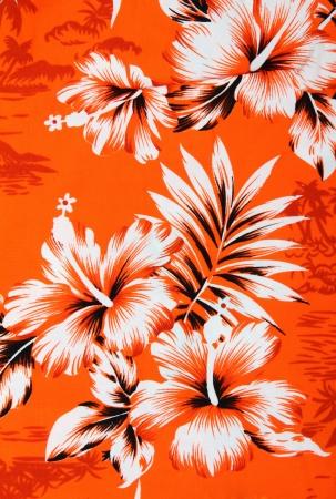 Seamless hibiscus flower background   Hawaiian patterns photo