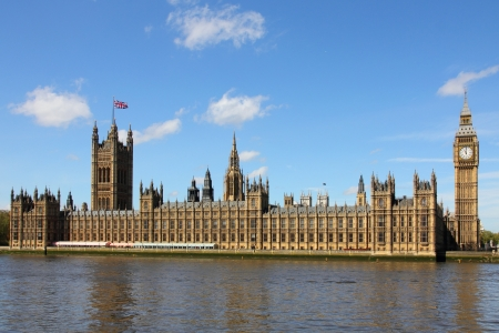 commons: Houses of Parliament and Big Ben in Westminster, London