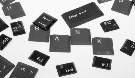 Bank Światowy: Czarna klawiatura przyciski-Bank Światowy Zdjęcie Seryjne
