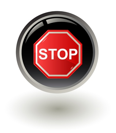 illustration of Stop sign Vector