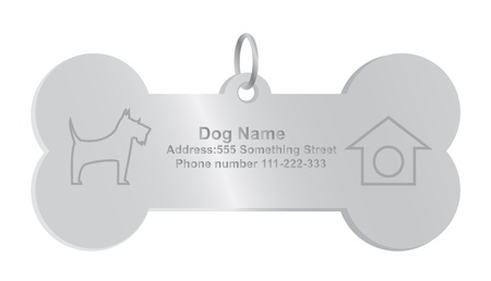 dog tag: identity tags for dog Illustration