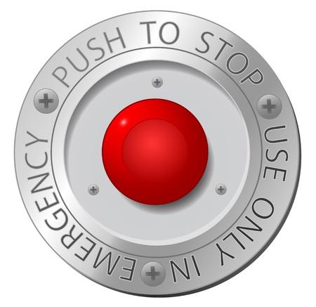 boton stop: Bot�n rojo de parada