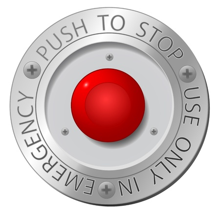stop button: Red stop button
