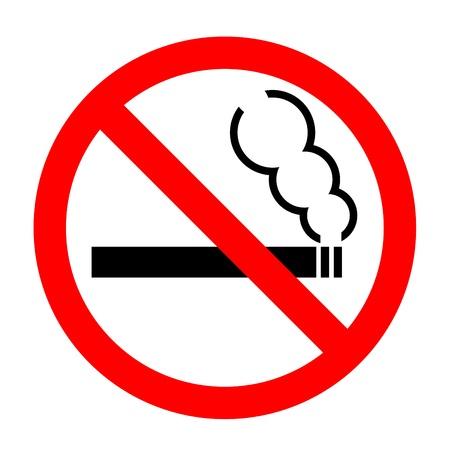 Niet roken teken Vector Illustratie