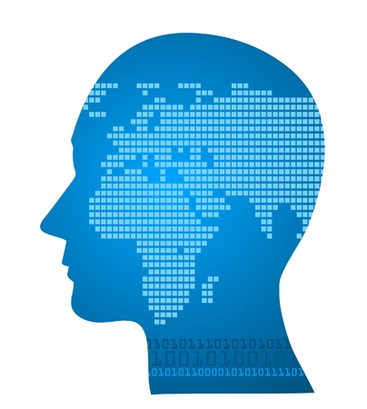 Illustration of world map in human head Stock Vector - 15547989