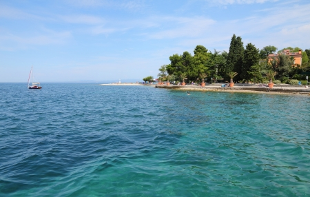 Adriatic sea, Slovenia, Izola, beach  Stock Photo - 15556791