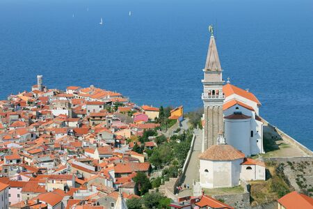adriatic: View on the historical city of Piran, Slovenia
