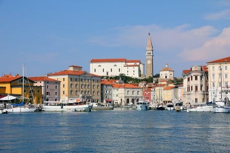 adriatic sea: Marina at  Piran - Slovenian coast Editorial