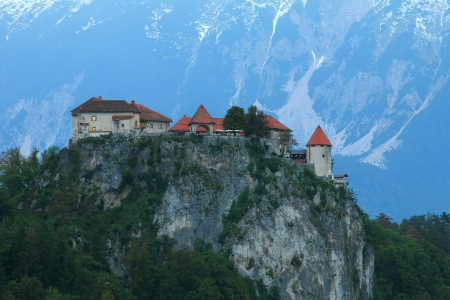 bled: Bled castle, Alps,Slovenia  Editorial
