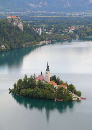 bled: Lake Bled with island Slovenia, Europe