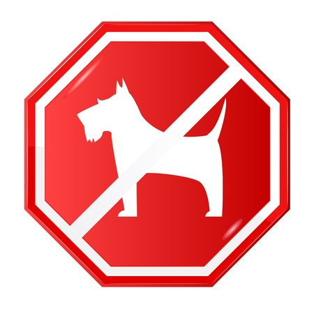 No dogs sign, vector Vector