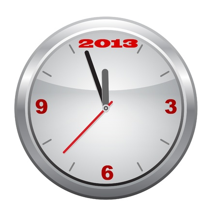 watch new year: Clock to 2013,  New Year Illustration