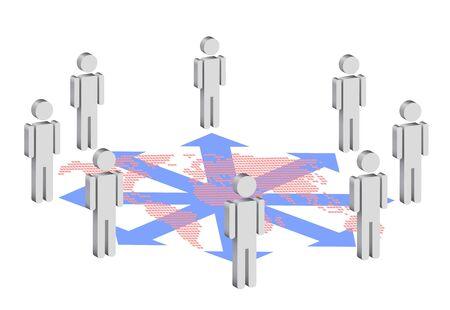 symbolic illustration for social network Stock Vector - 16214676