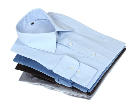 shirt sleeves: New blue and grey man Stock Photo