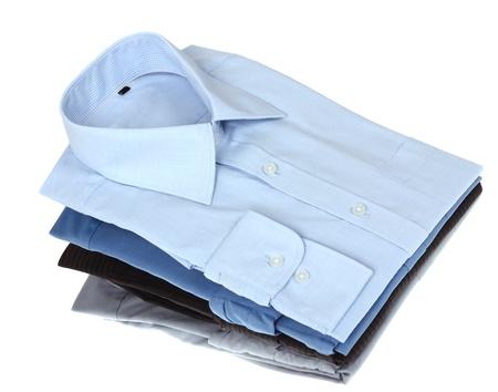 dry cleaned: Nuovo blu e grigio uomo Archivio Fotografico
