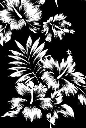 Seamless hibiscus flower background   Hawaiian patterns