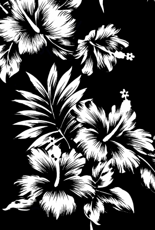 ibiscus: Seamless Hibiscus Flower pattern di sfondo delle Hawaii Archivio Fotografico