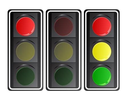 semaphore: Traffic lights, vector gradient. Illustration