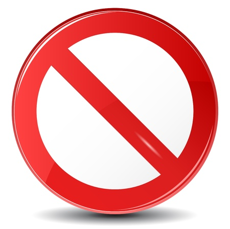 no entry sign: Vector illustration of Stop sign
