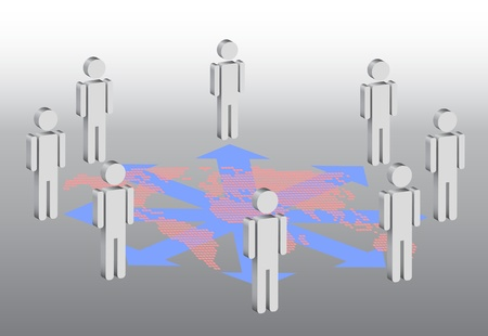symbolic illustration for social network Illustration