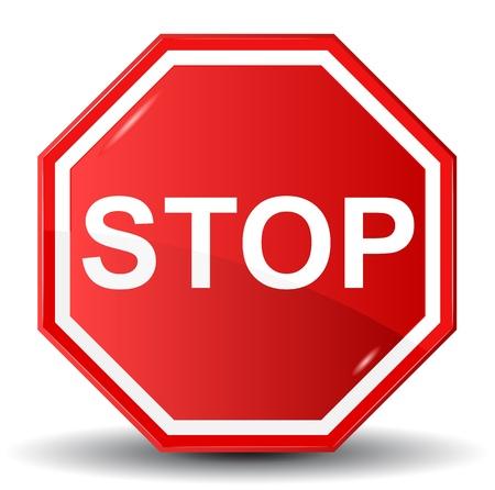 señales preventivas: Ilustración vectorial de la señal de Stop