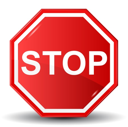 warning signs: Vector illustration of Stop sign