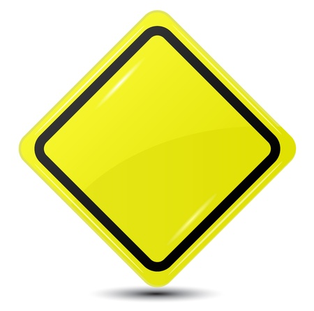 Blank Yellow Sign isolated on white background Vector