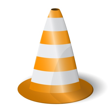 Vector Road Cone Icon Stock Vector - 18684676