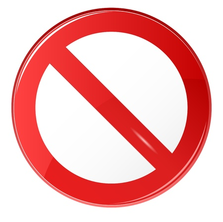 illustration of prohibited sign on isolated white background Çizim