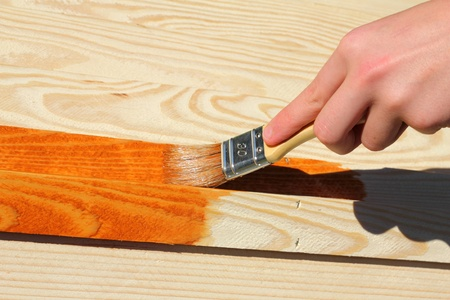 broad: Painting wooden furniture piece