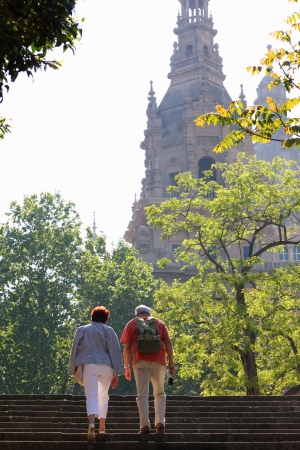 Senior couple sightseeing together  Barcelona , Spain  photo