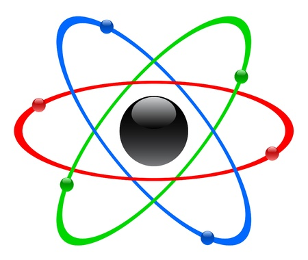 PROTON: Color atomic symbol, vector