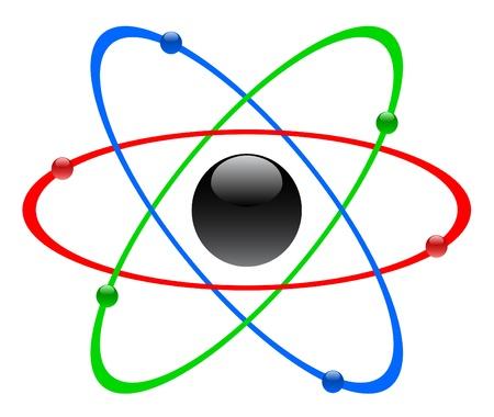 radium: Color atomic symbol, vector
