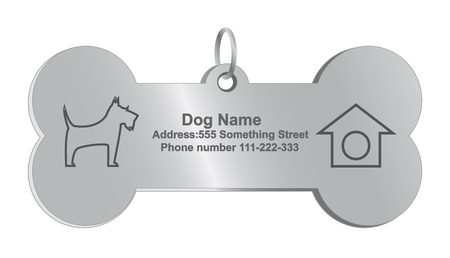 personal service: Vector identity tags for dog, eps10, gradient