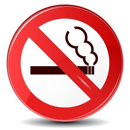 prohibido fumar: Vector signo