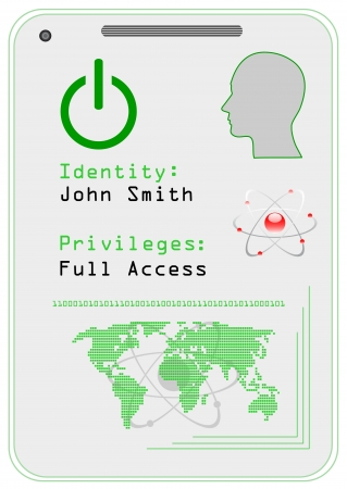 access granted: Identification card,  icon.  Illustration