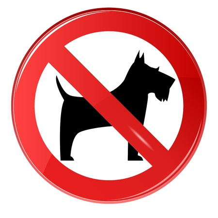 No dogs sign, gradient. Vector