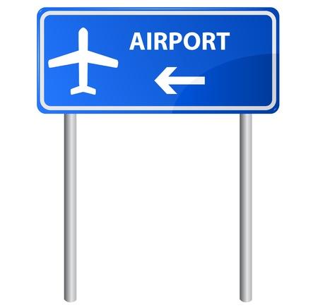 indicatore: Aeroporto di segno, pendenza.