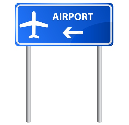 Airport sign, gradient.