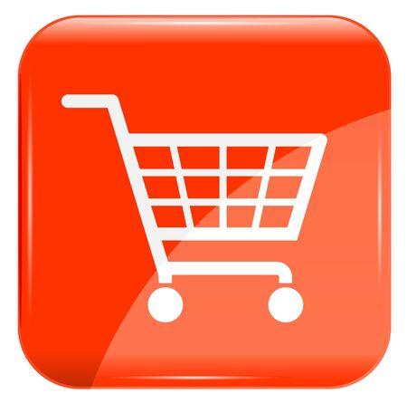 shopping basket: Red shopping basket sign