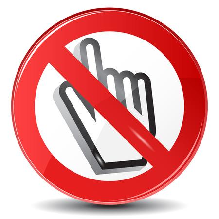 Web surfing forbidden, vector sign Vector