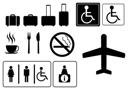 toilette: Travel icons,  vector eps 10 Illustration