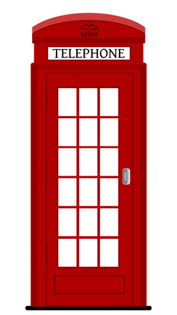 ロンドンの電話ボックス、ベクトル イラスト  イラスト・ベクター素材