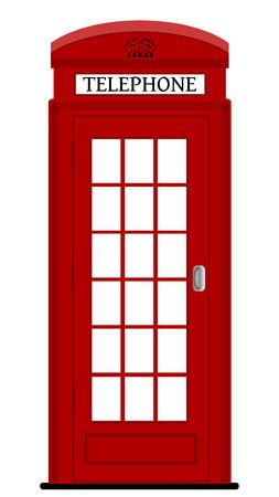 런던 전화 박스, 벡터 일러스트 레이 션