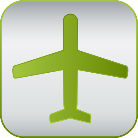 monoplane: simple modern plane sign, vector icon