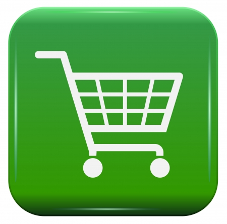 e retailers: Ecology shopping basket sign