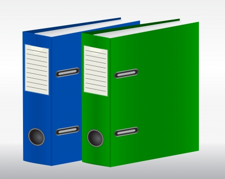 Two color binders Vector
