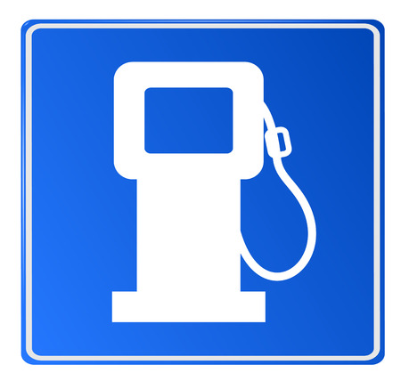 Blue car fuel signal, vector, eps 10, no mesh, gradient Vector