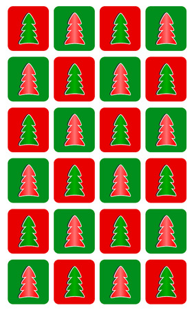 Simple Christmas tree seamless pattern Vector
